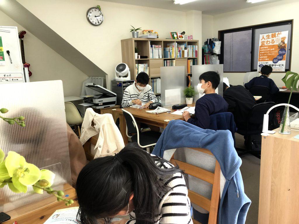 勉強中の様子
